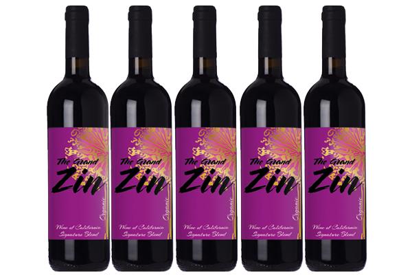 Etiketter på vinflaskor