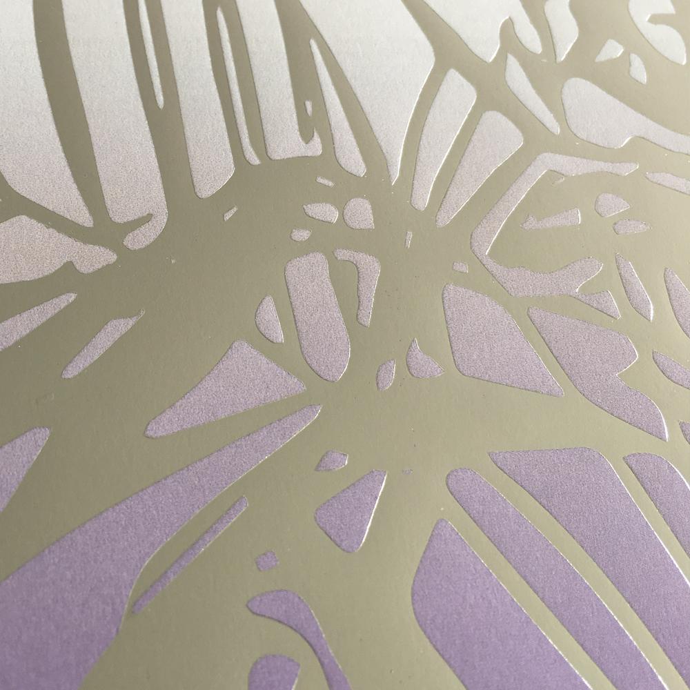 Affisch palm silver närbild