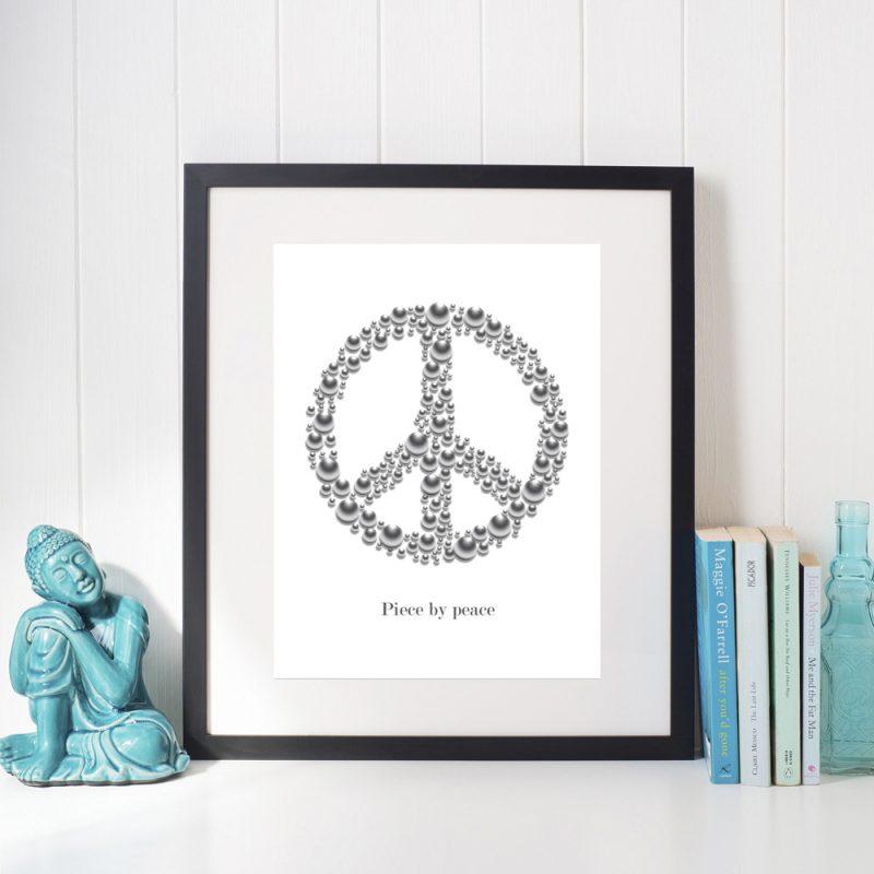 Affisch Piece by peace vit