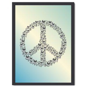Affisch Peace turkos