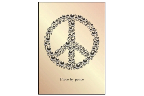 Affisch Piece by peace aprikos